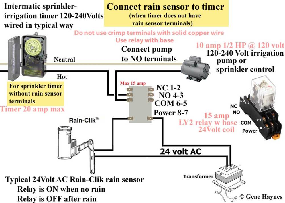 medium resolution of larger image how to connect rain sensor to sprinkler timer that does not have rain sensor terminals for timers without rain sensor terminals