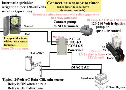 small resolution of larger image how to connect rain sensor to sprinkler timer that does not have rain sensor terminals for timers without rain sensor terminals