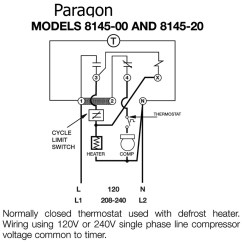Paragon Defrost Timer 8141 20 Wiring Diagram 12 Volt Switch Control All Data Commercial Timers Diagrams