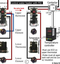 add another thermostat to gas or electric water heater rh waterheatertimer org contactor wiring terminal underfloor heating contactor wiring diagram [ 963 x 896 Pixel ]
