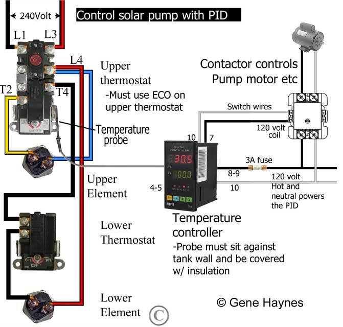 pid temperature controller kit wiring diagram for a pioneer stereo control gas water heater with electric thermostat add to turn off solar pump before it overheats tank and trips eco reset on upper this is dual purpose