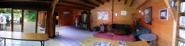 De binnenkant van ons paviljoen.