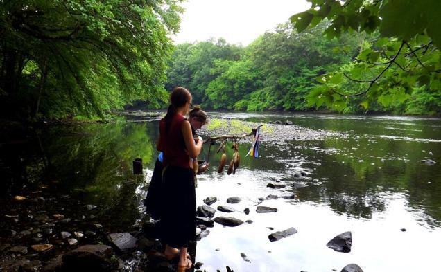 gwen and Carole Quinebaug River Walk