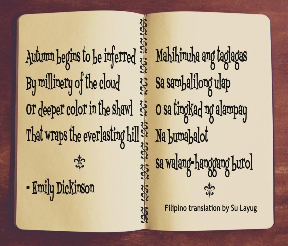 Emily Dickinson Poem No. 65  (excerpt)