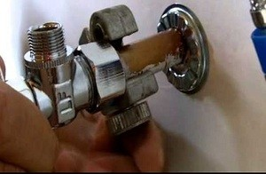 remove old water valve