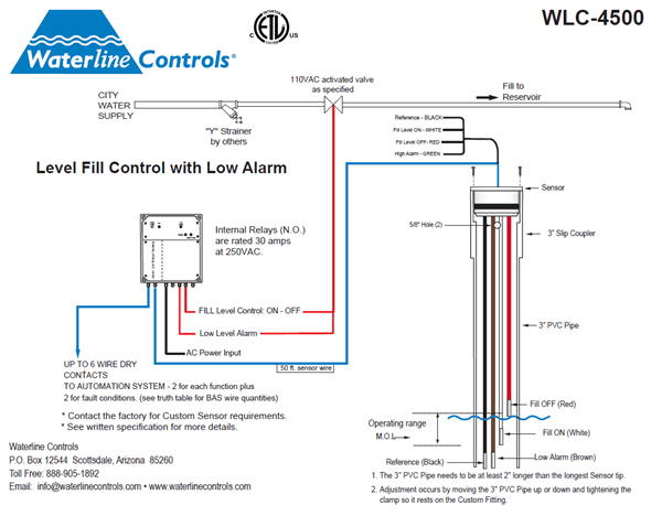asco solenoid wiring diagram car audio sws4500 - electronic water level control | fill low alarm