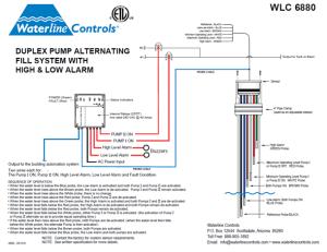WLC6880  HighLow Alarm Dual Pump Alternating Controller