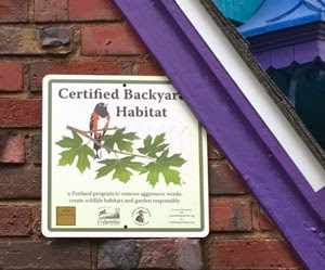 Certified Backyard Habitat