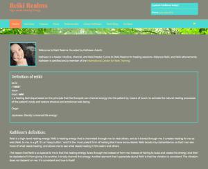 Reiki Realms website screenshot