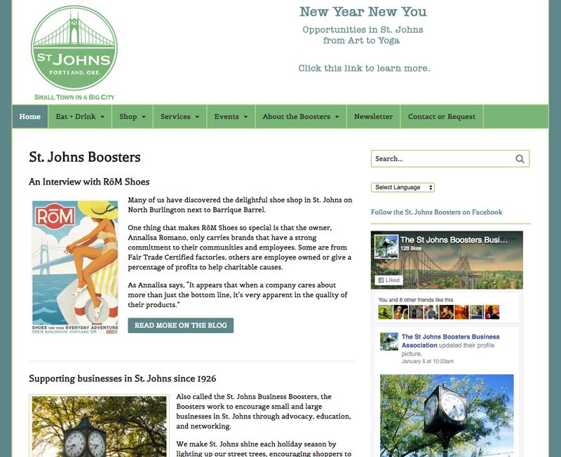 St. Johns Boosters website screenshot