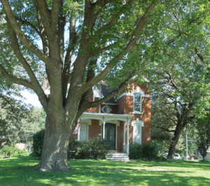 Brick home in Avoca, Iowa.