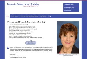 Screenshot of the Dynamic Presentation Training website.