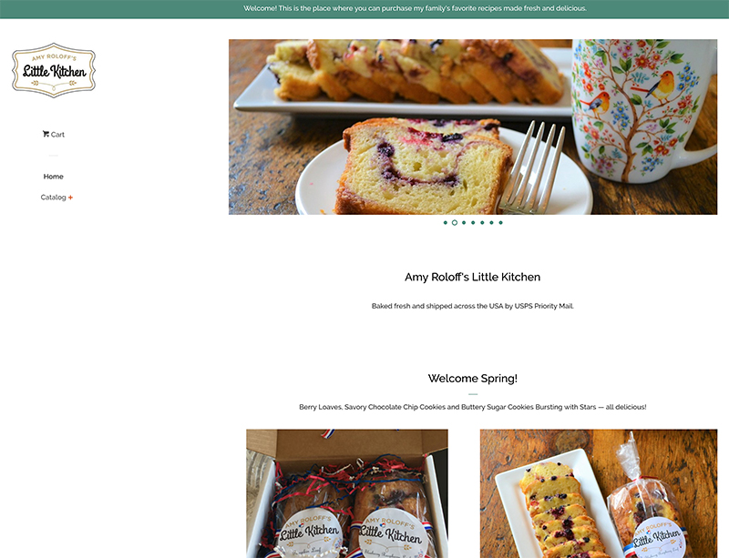 Amy Roloff's Little Kitchen website by Waterlink Web