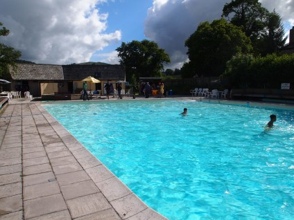 The pool basks in the June sun