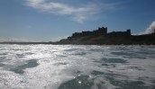 Bamburgh Castle from the water