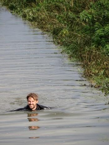 In the drain