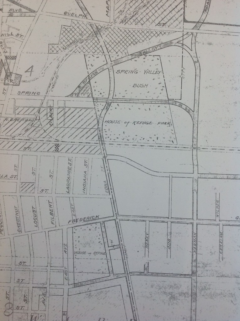 Map of the House of Refuge Property from 1924; Source: Darryl Bonk