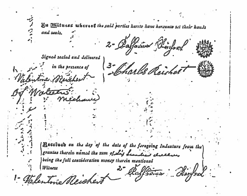 Deed of Land; Source: Lynn Carrier
