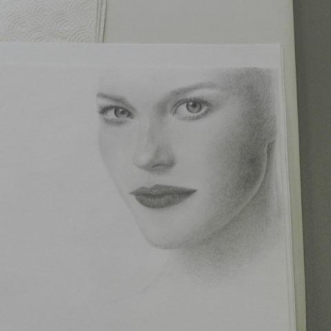 Charcoal Drawing, Pencil and Paper, Facial Drawing