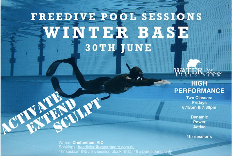 Winter Freediving Pool Training