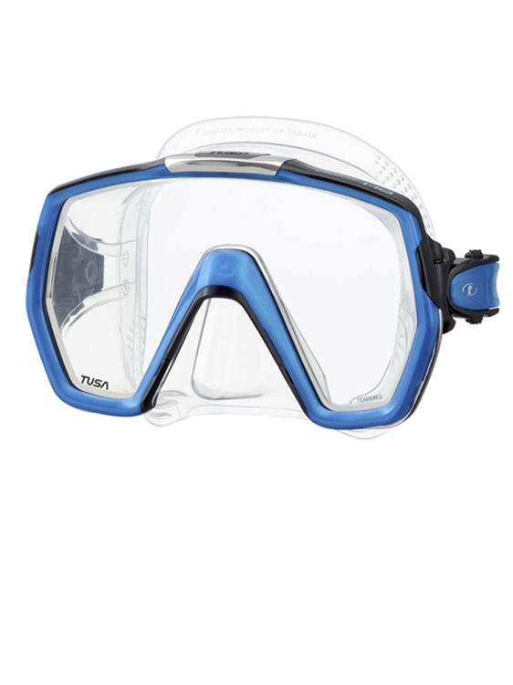 TUSA Freedom HD Diving Snorkelling Mask Clear Fishtail Blue