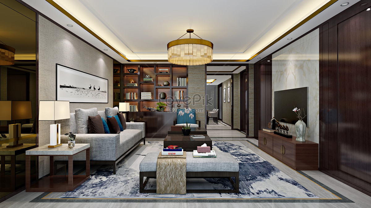 chinese living room furniture sets leather new interior design effect map photo