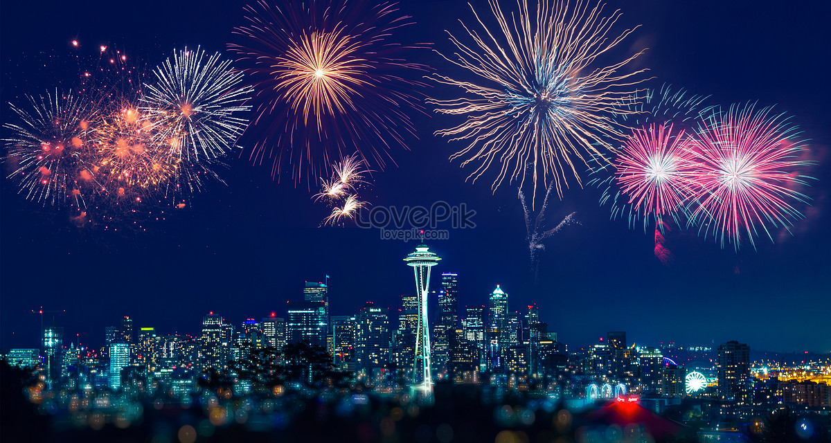Hd Diwali Wallpapers Free New Year S City Fireworks Background Creative Image