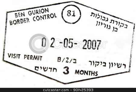 passport stamp stock photo