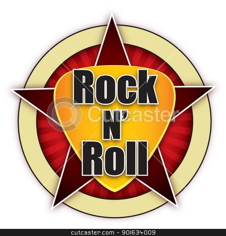 Rock N Roll Logo 3 Stock Vector
