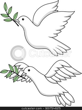 White dove symbol stock vector
