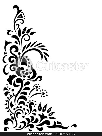 Forest floral background stock vector