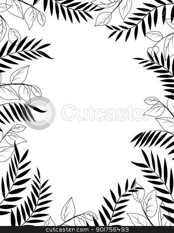 Jungle silhouette stock vector