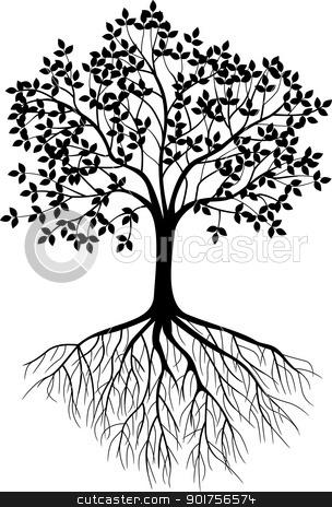 Tree silhouette stock vector