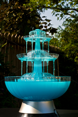Blue Drink Fountain stock photo
