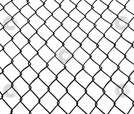 Chainlink fence. stock vector