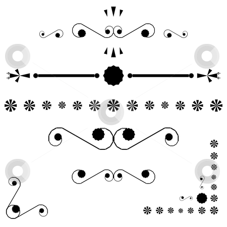 Corners and page end ornaments stock vector