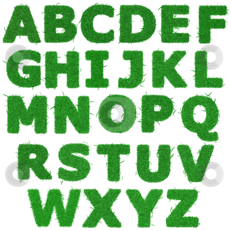 all letters of green