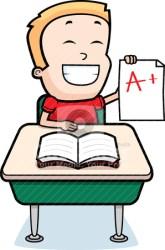boy student grades grade estudiante clipart animados feliz dibujos cartoon vector ragazzo jungen rangen gradi clip beeldverhaaljongen jongen calificaciones animado