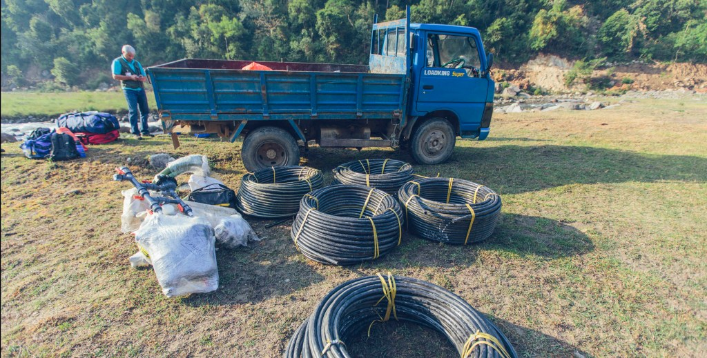 Pipe ready for Pokhari village | Nepal Earthquake