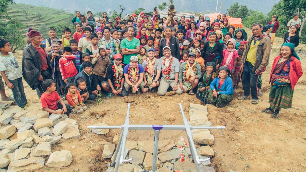 Water Missions team with Pokhari community | Nepal Earthquake