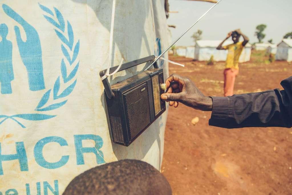 Radio in refugee camp