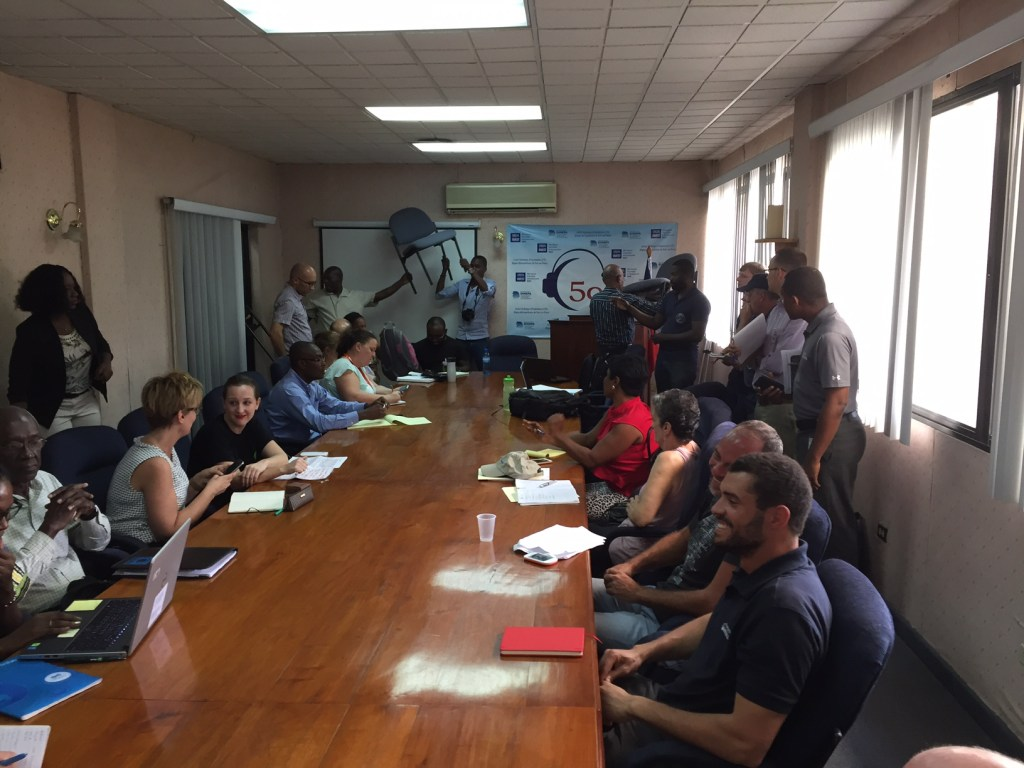 Water Mission Haiti participates in national WASH cluster meeting in Port-au-Prince.