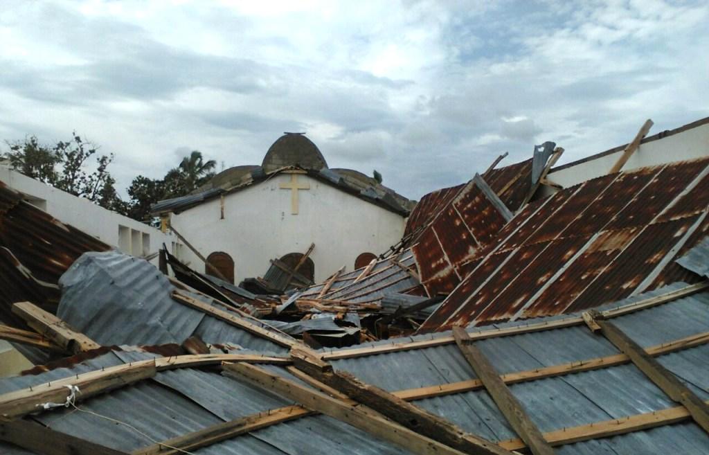 A church destroyed by Hurricane Matthew.