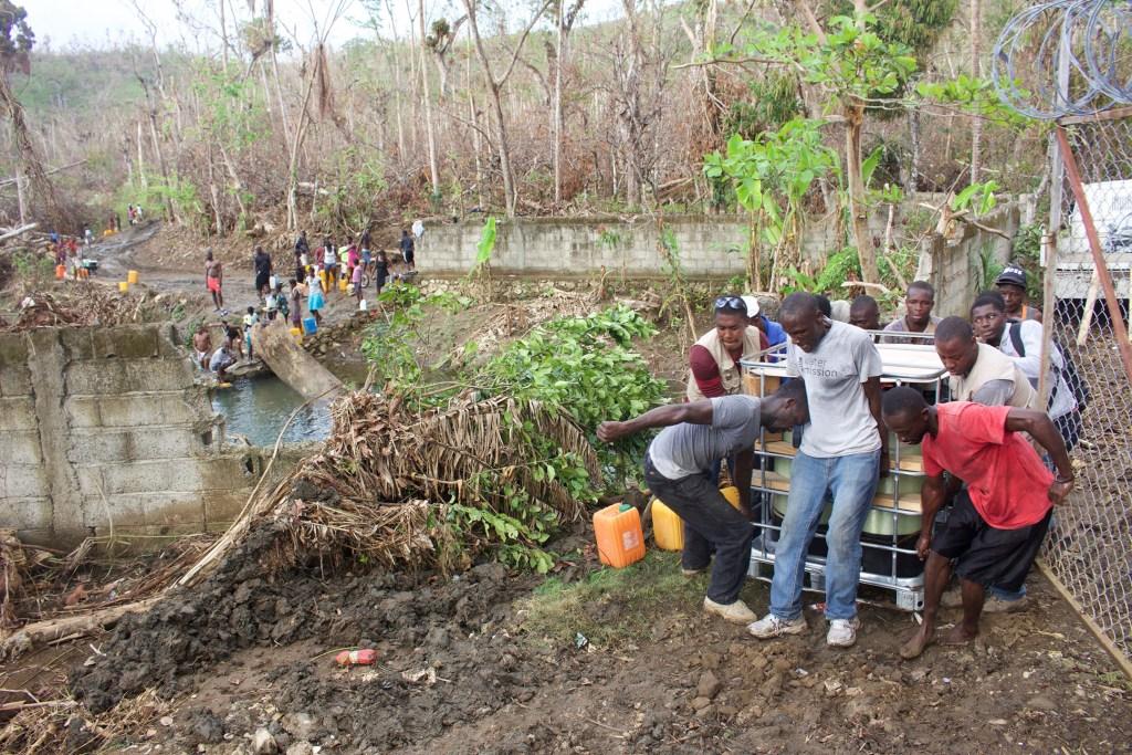 Water Mission Haiti team responding to Hurricane Matthew.