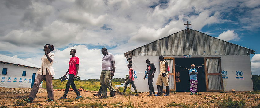 A church in Northern Uganda's Bidi Bidi Refugee Settlement