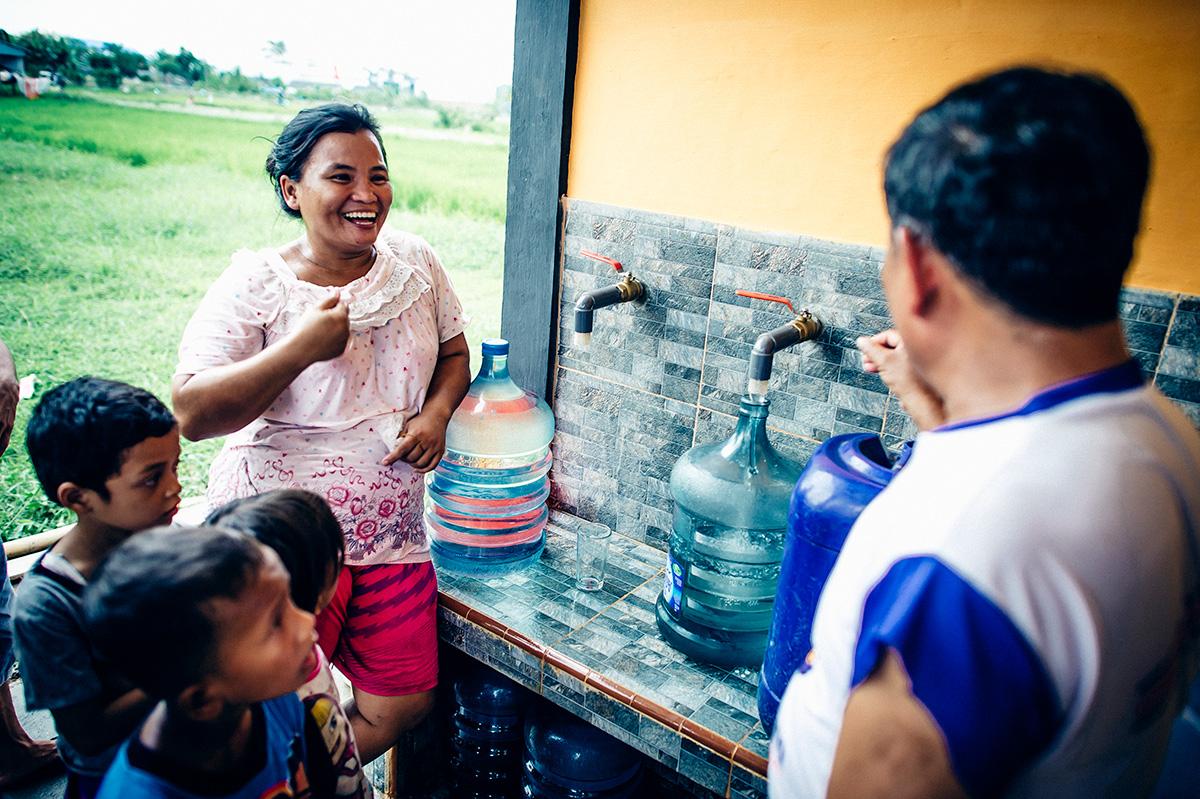 Water distribution in North Sumatra, Indonesia