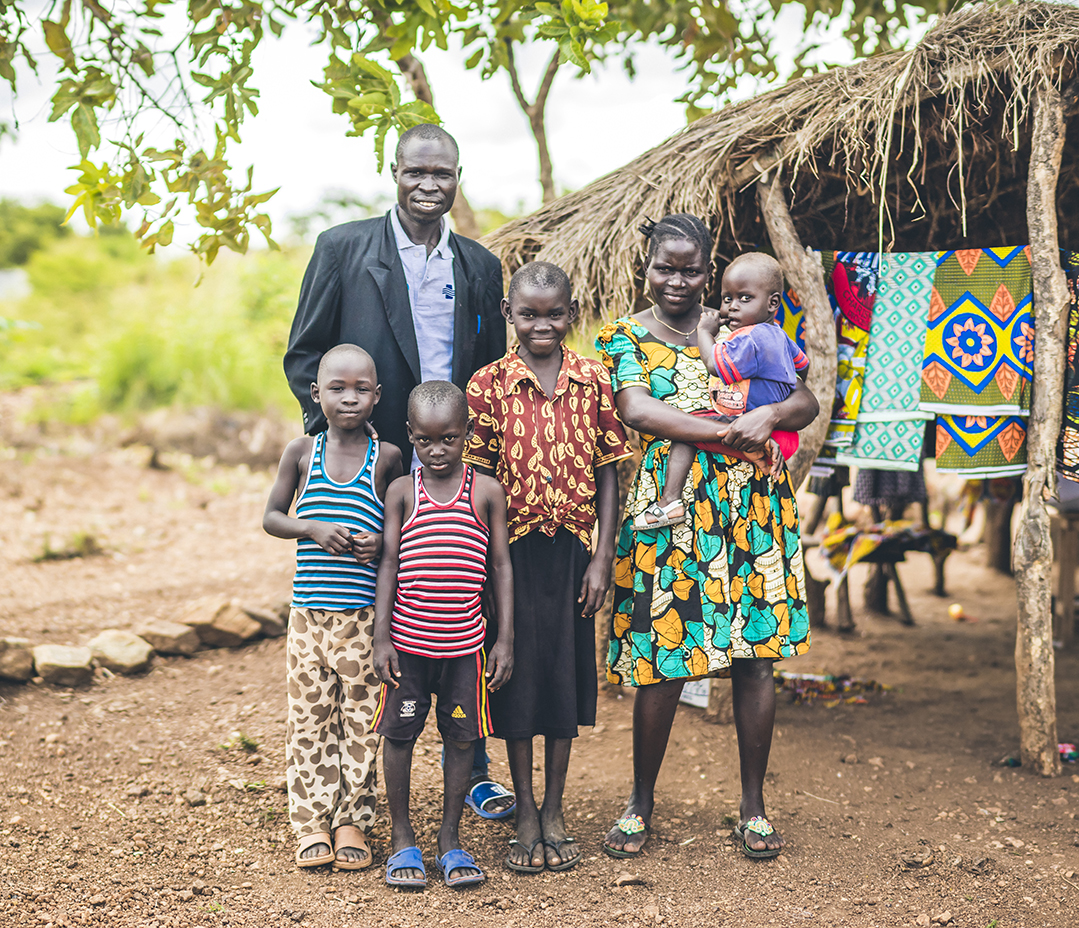 Dada Angelo and family, Bidi Bidi Refugee Settlement, Uganda, October 19, 2017