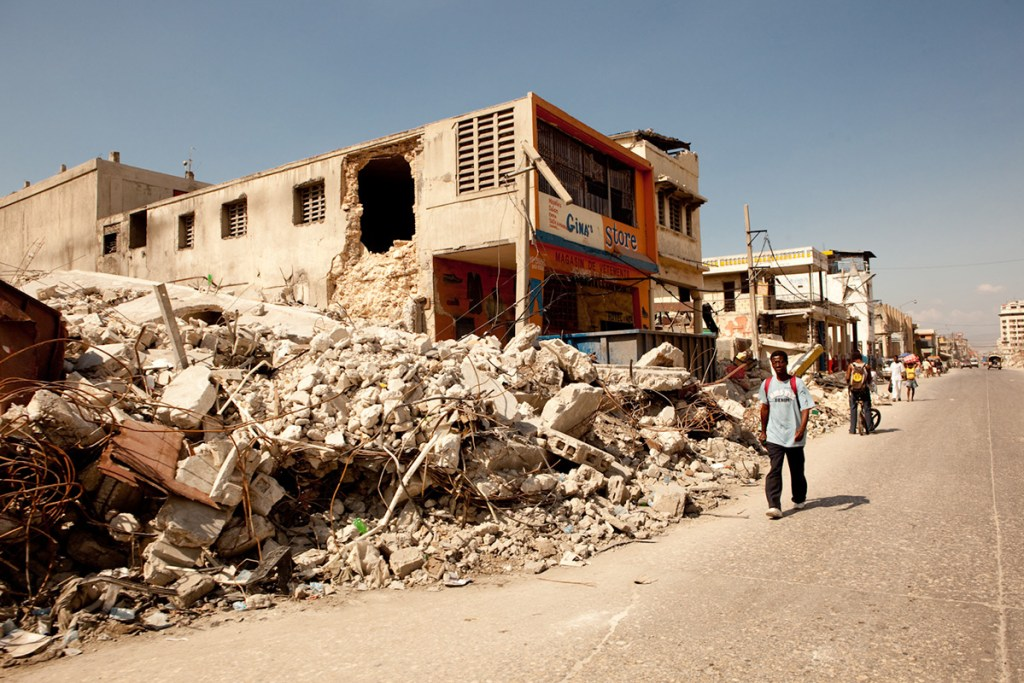 Destruction caused by the earthquake