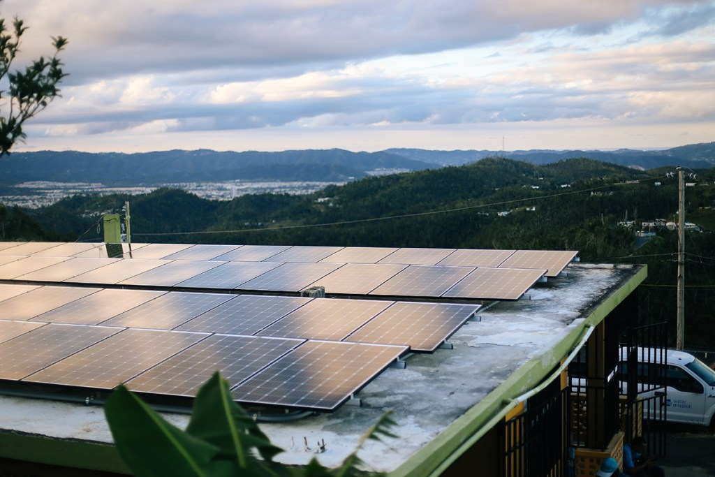 Solar arrays in Puerto Rico