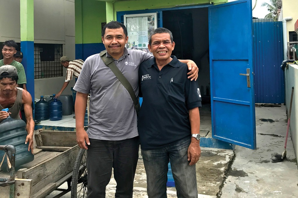 Alysyahbana and Jordan (of Water Mission Indonesia)